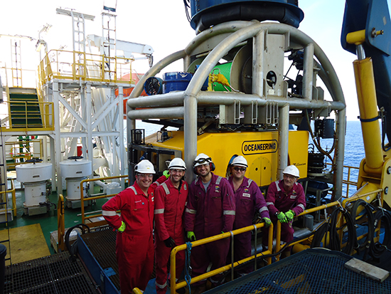 With the ROV team on board the Deepsea Metro I in the Western Indian Ocean